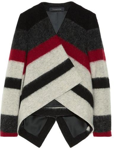 Thakoon Striped brushed wool-blend jacket