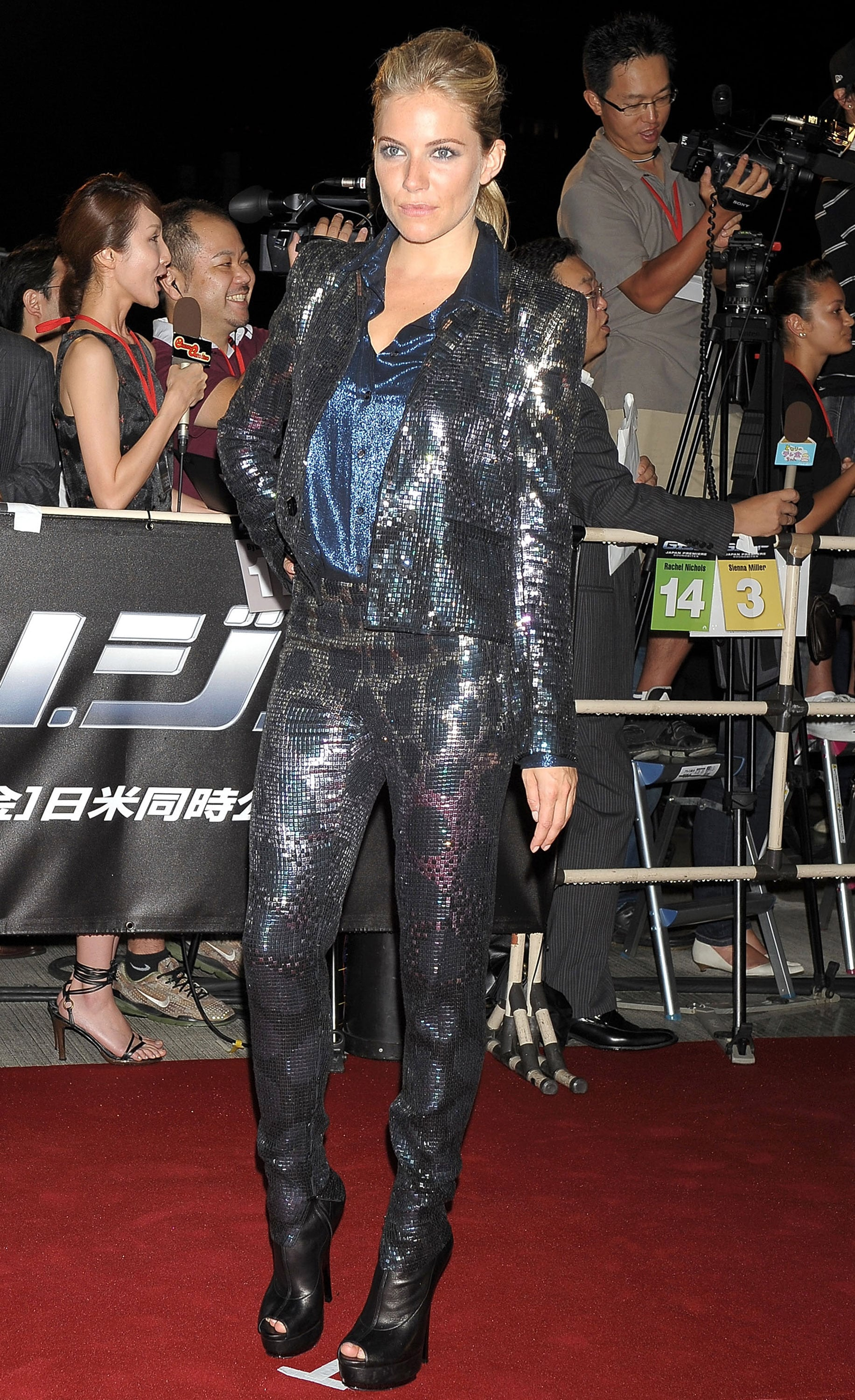 Sienna rocked a slick, sparkly suit for a film premiere in 2009.