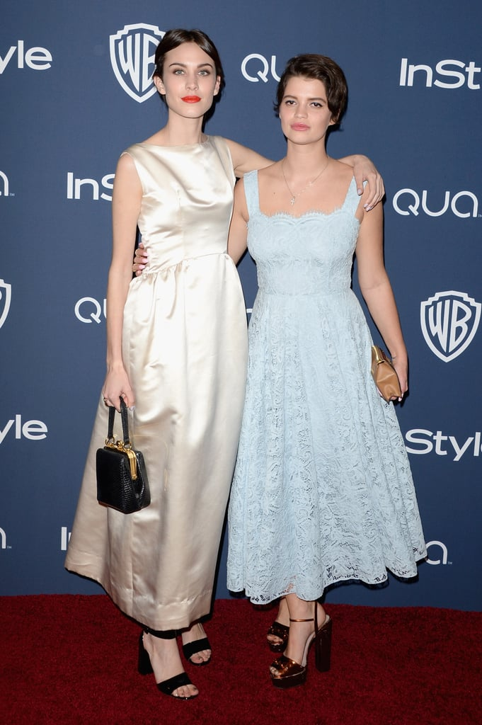 Alexa Chung and Pixie Geldof at the InStyle Golden Globes party.