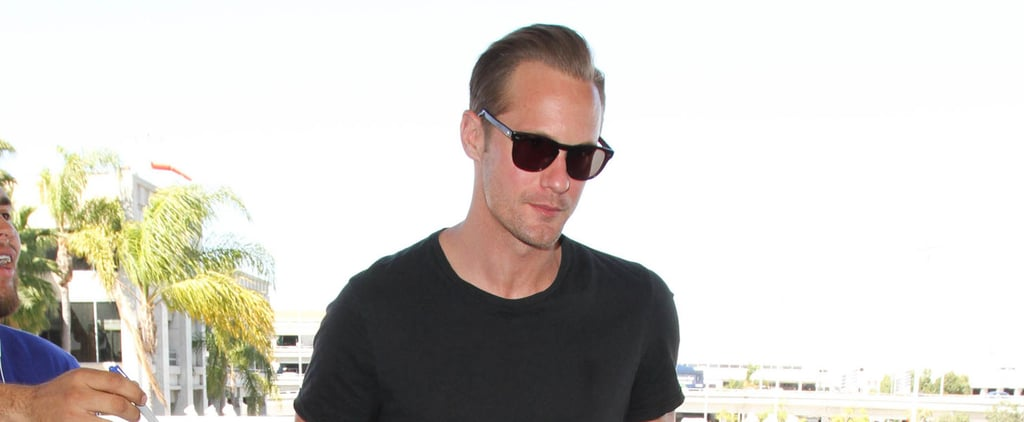 Only Alexander Skarsgard Can Make an Airport Outing Look This Hot