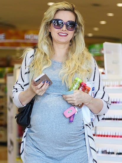 Pregnant Holly Madison Glows in Bump-Accentuating Minidress While Out Running Errands
