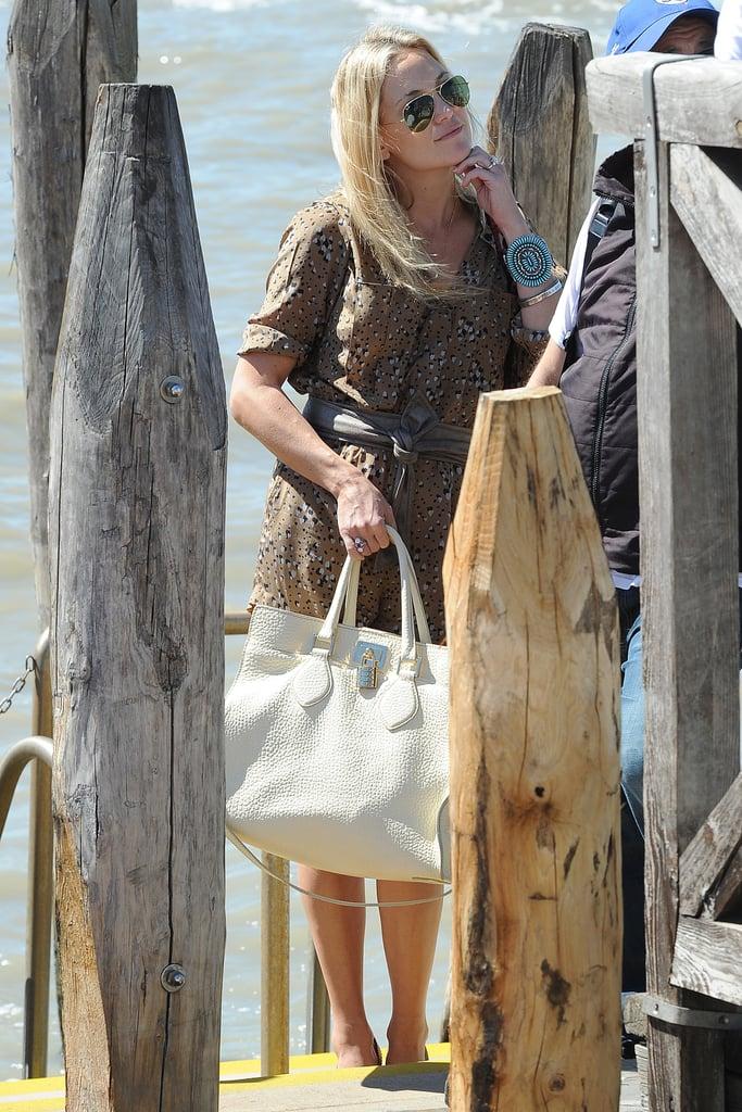Kate Hudson arrived for the Venice Film Festival.