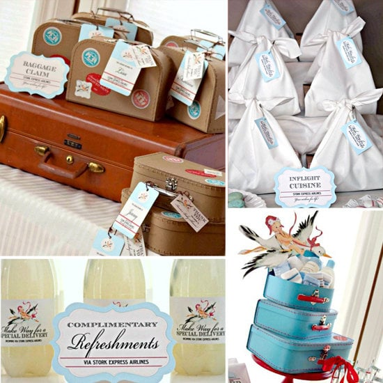 A Stork- and Airline-Inspired Baby Shower