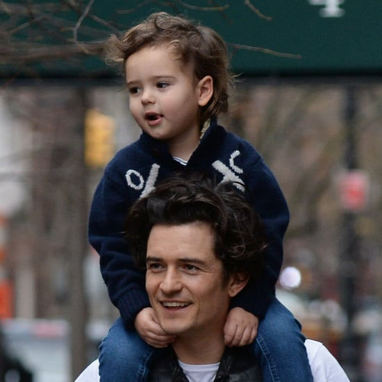 Orlando Bloom Gives Flynn a Piggyback Ride | Pictures