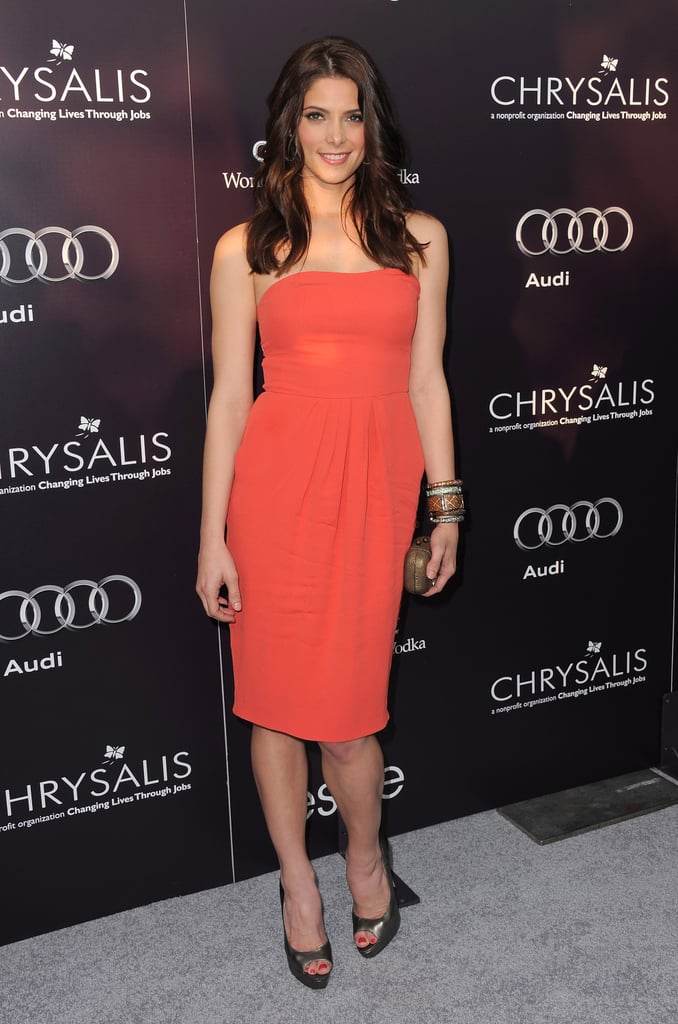 A perfect fit and a bold hue at the 10th annual Chrysalis Butterfly Ball in 2011.