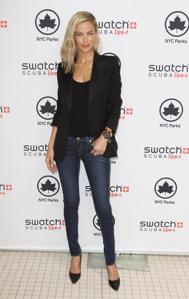 Carolyn Murphy at the Swatch launch of Scuba Libre Days in NYC.