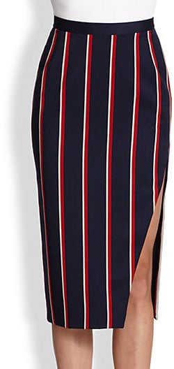 Altuzarra Striped Slit Skirt