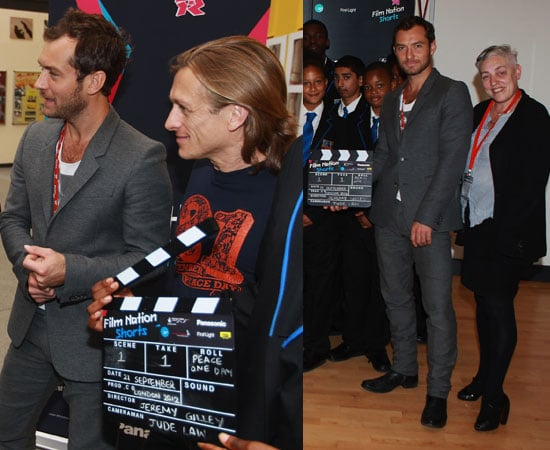 Pictures of Jude Law and Jeremy Gilley at London 2012 Cultural Olympiad Short Film Competition