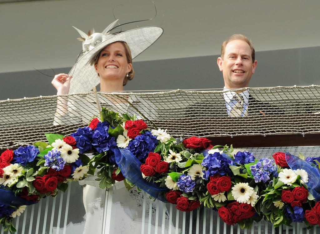 Sophie, Countess of Wessex, and Prince Edward, Earl of Wessex, enjoyed the races together.