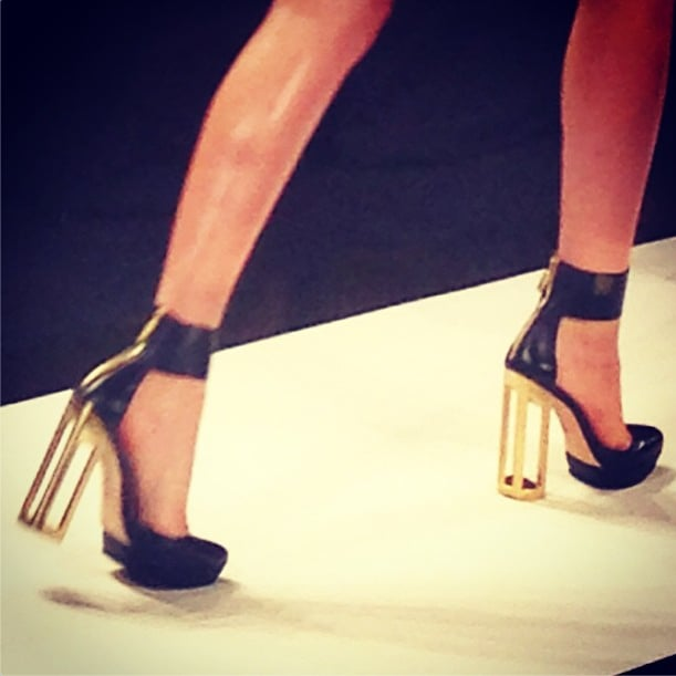 Yes, Hervé Léger, those are some cagey heels! Source: Instagram user mbfashionweek