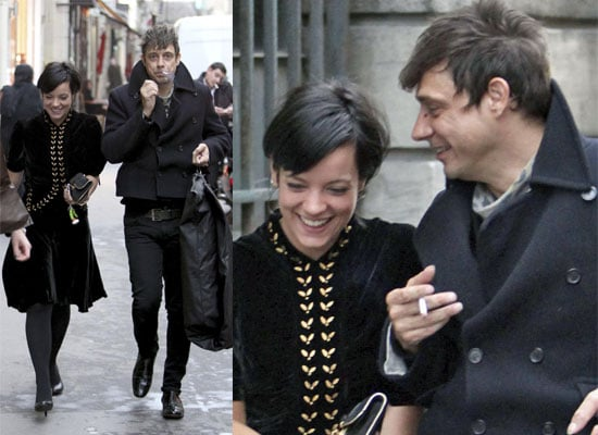 Photos Of Kate Moss's Man Jamie Hince and Lily Allen Shopping In Paris During Fashion Week