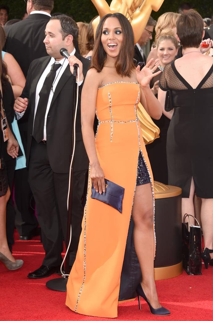 Kerry Washington looked flawless in her Prada ensemble.