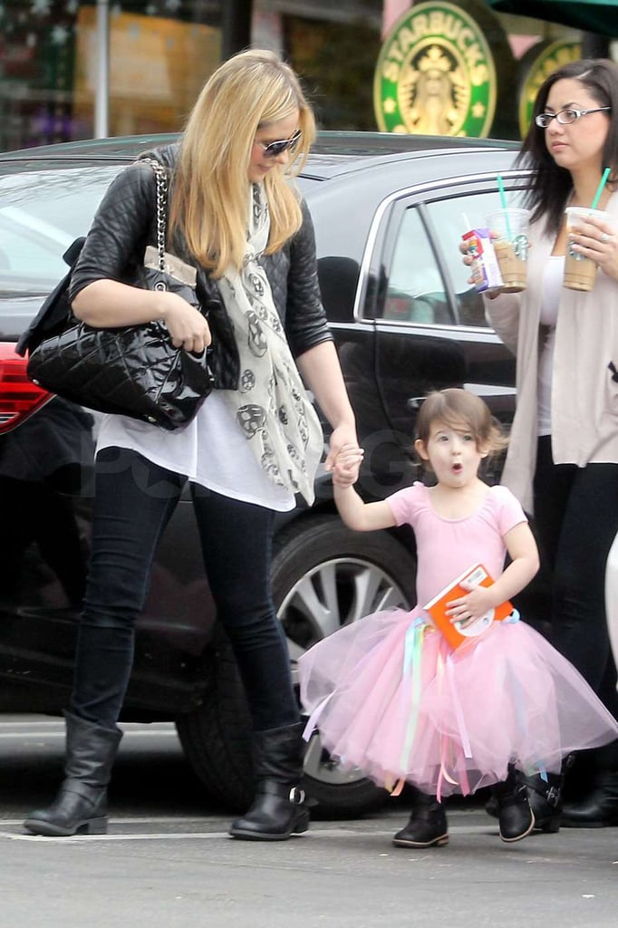 Charlotte Prinze made a cute face as she and Sarah Michelle Gellar headed to the car.
