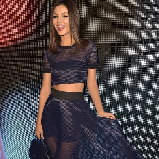 Victoria Justice Front Row DKNY Spring 2015 | Video