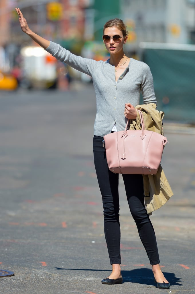Karlie Kloss in Cropped Jeans and Ballet Flats