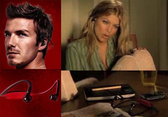 David Beckham and Fergie's MOTOROKR S9 Headset