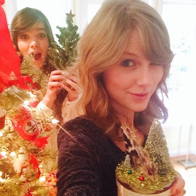 Taylor Swift got into the Christmas spirit with pal Hailee Steinfeld. Source: Instagram user taylorswift