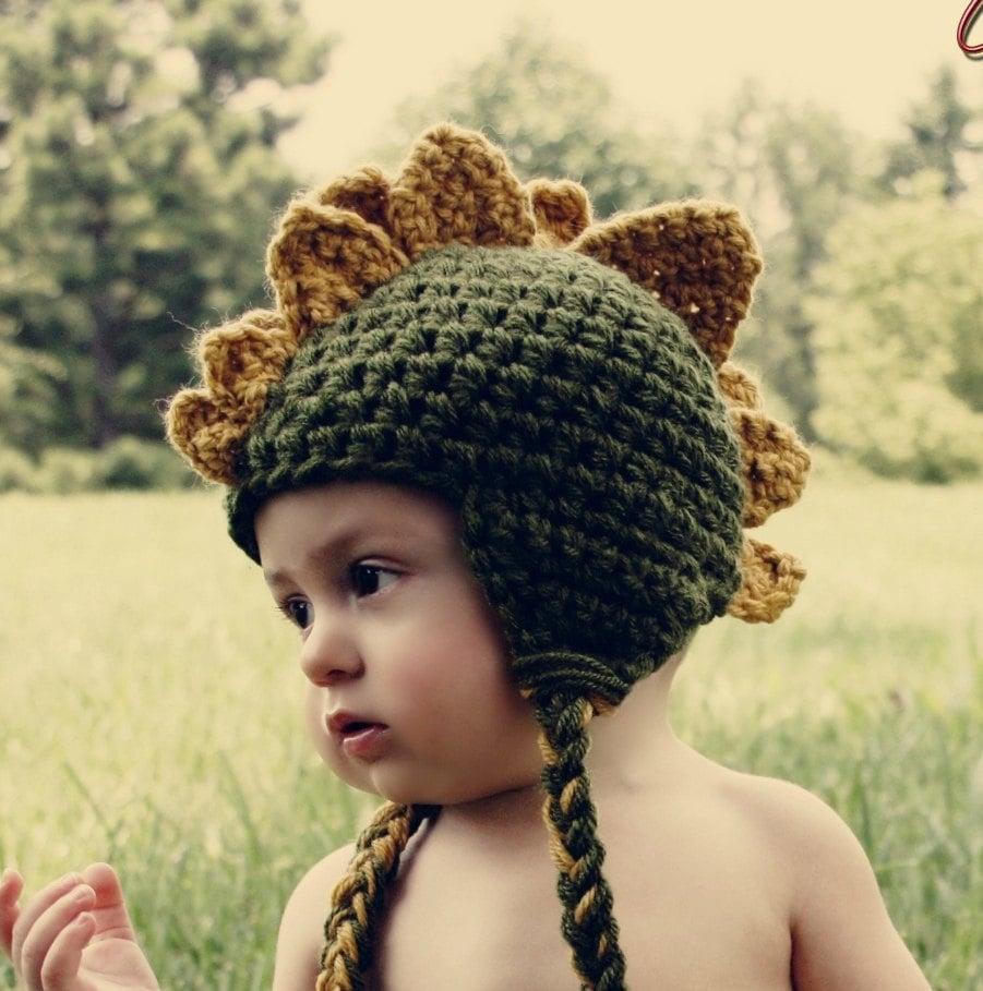 Baby Dinosaur Crochet Hat ($47)