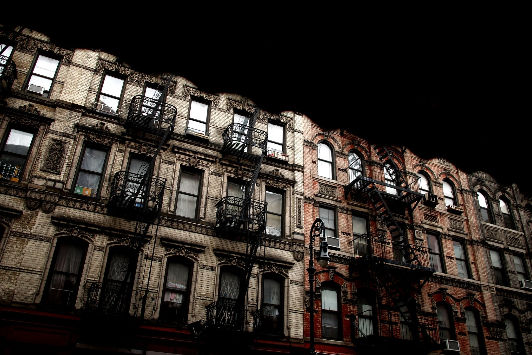 An aging tenement building on Orchard Street in the Lower East Side