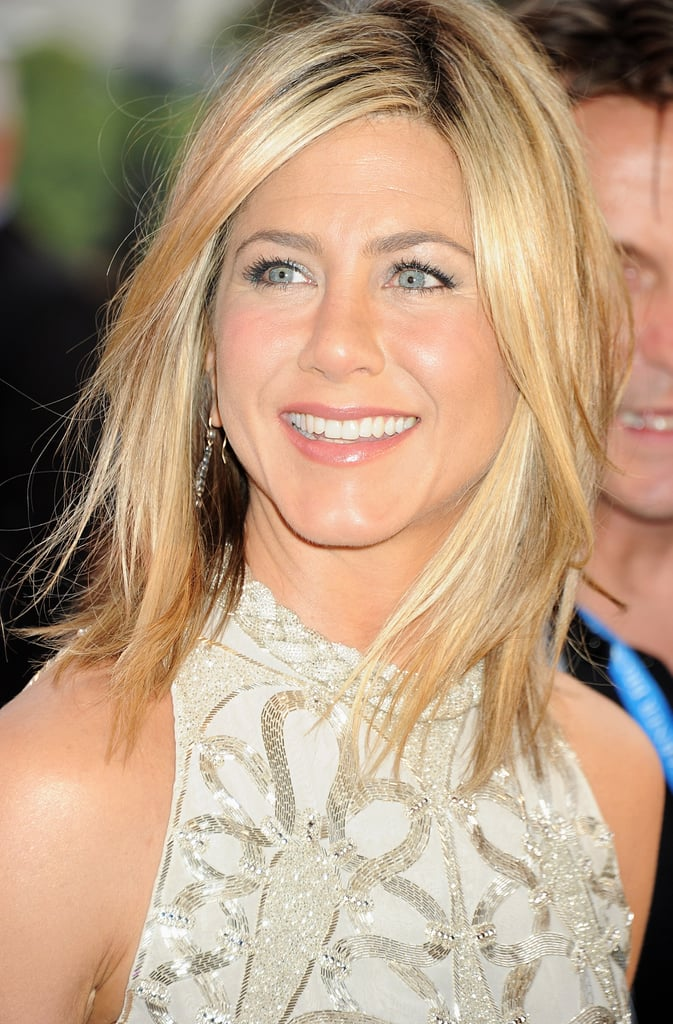 Jennifer Aniston with blond hair.