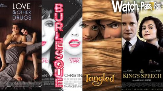 Movie Reviews of Love and Other Drugs, Burlesque, Tangled, and The King's Speech