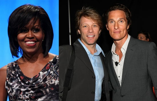 Photos of Michelle Obama, Jon Bon Jovi, Matthew McConaughey at the National Conference For Service and Volunteering in SF