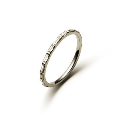 """Not all rings have to be classified as """"huge rocks"""" to be insanely beautiful. Case in point: this Nora Kogan Skinny ring ($3,630) is the ultimate in sleek, minimalistic splendor."""
