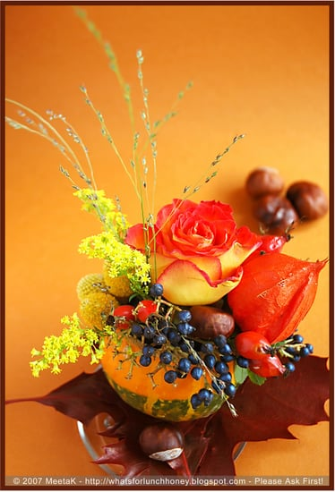DIY:  Pumpkin Centerpieces