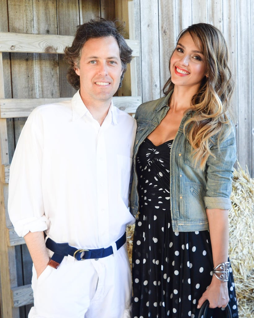 Jessica Alba brought her daughters out to the Ralph Lauren Girls runway show and struck a pose with David Lauren.