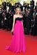 She brought the color quotient up a notch by melding fuchsia and black in this Jason Wu gown at the 2010 Cannes Film Festival.