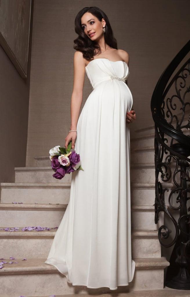 Фото в свадебном платье беременной невесты