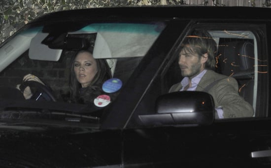 Pictures of the Beckhams Plus Emma Bunton and James Corden at Ramsays' Christmas Party