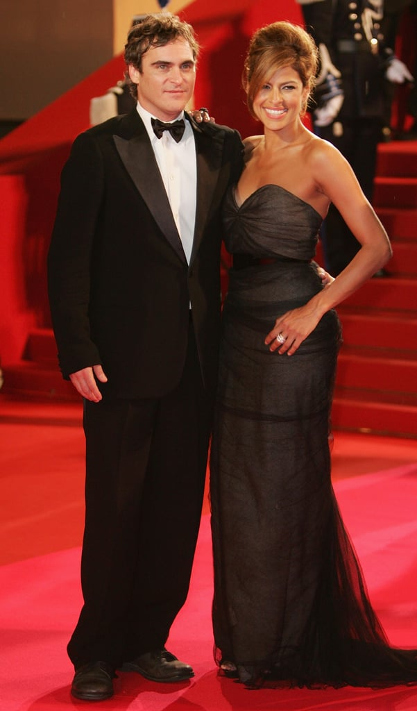 Eva Mendes and Joaquin Phoenix got dressed up for the premiere of We Own the Night in 2007.