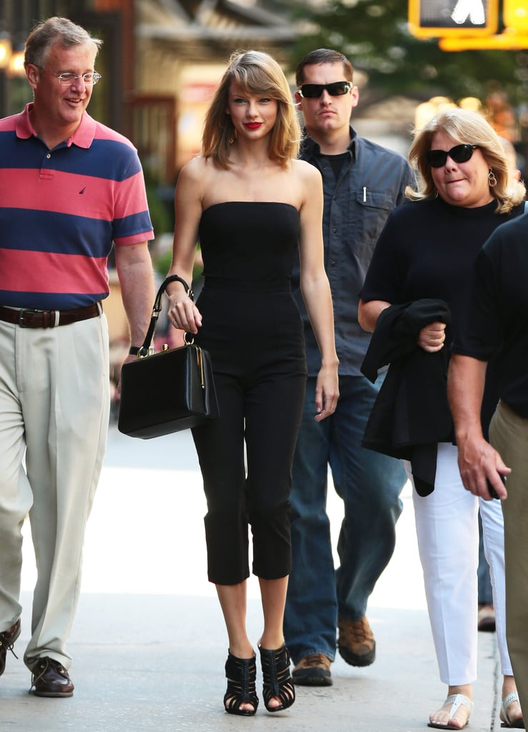 Taylor Swift Hit The Streets of NYC In Glamorous Gold Separates