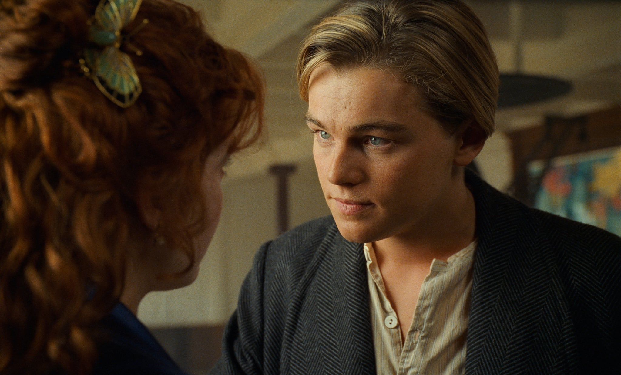 Kate Winslet and Leonardo DiCaprio in Titanic.