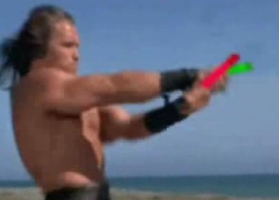 Arnold Schwarzenegger Has Glow Sticks