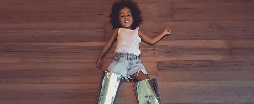 If Kim Kardashian's Boots Look Familiar, It's Because North West Already Wore Them