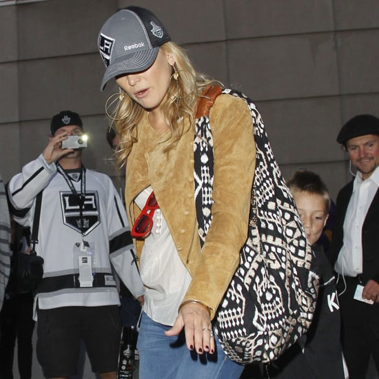 Kate Hudson Printed Embroidered Hobo Bag