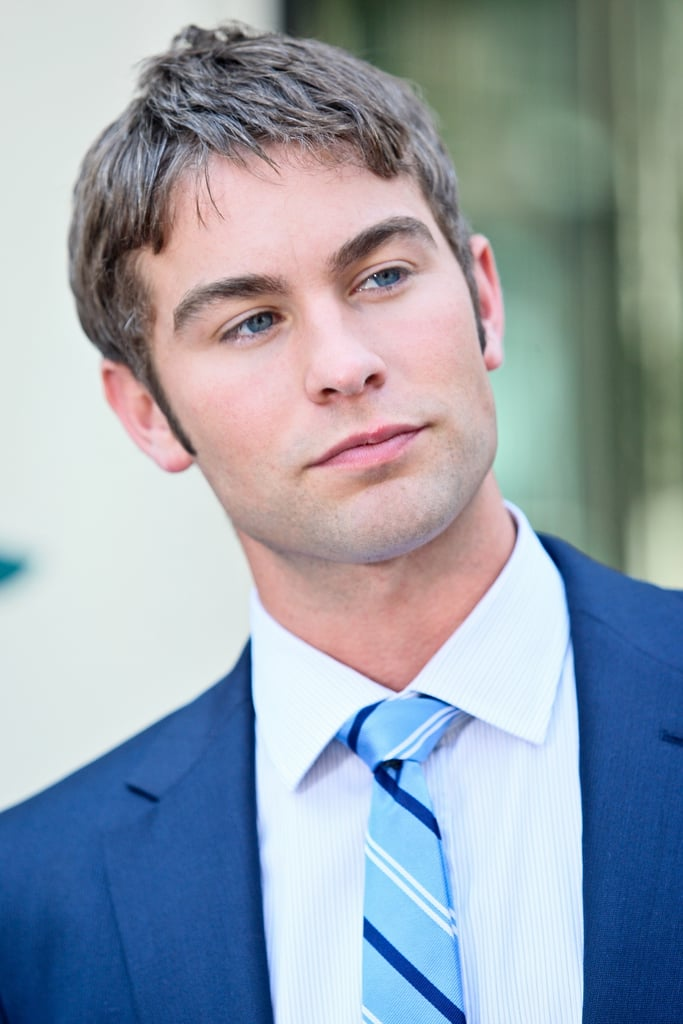 Chace Crawford wore a tie to match his suit in NYC.