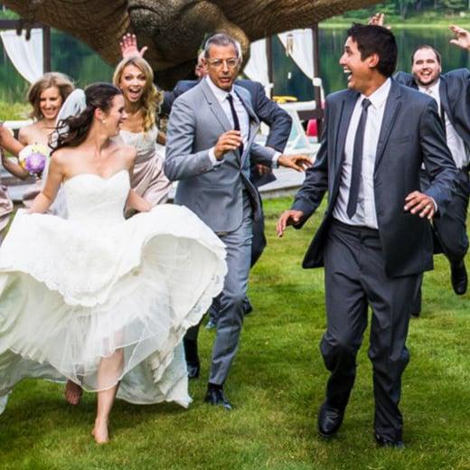 Jeff Goldblum in Jurassic Park Wedding Photo