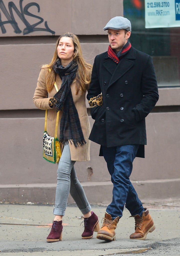 Justin and Jessica Kick Off the Weekend With a Couple's Walk