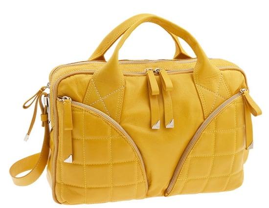 Francesco Biasia Laptop Bag in Yellow Leather