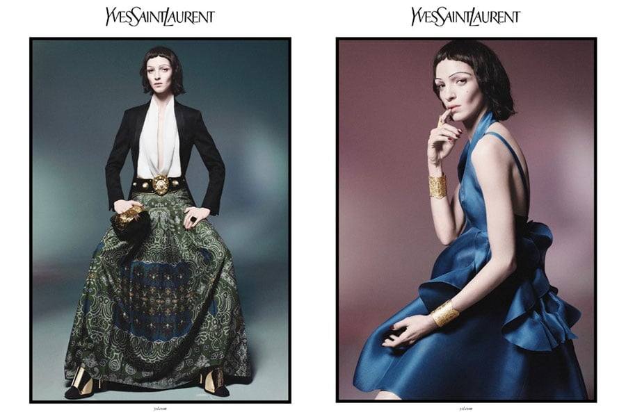 Mariacarla Boscono looks a bit alien-like in the YSL Spring '12 ads. Source: Fashion Gone Rogue