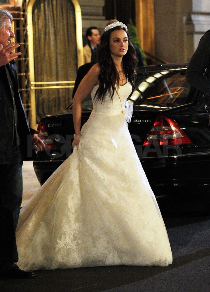 Leighton stepped out in her dress.
