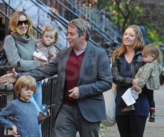 Slide Picture of Sarah Jessica Parker and Family in NYC