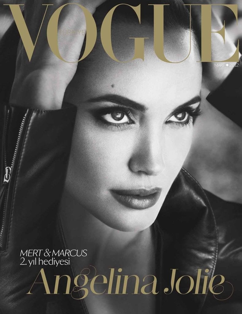 Angelina Jolie graced the March 2012 cover of Russian Vogue.