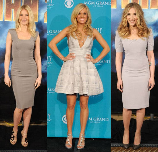 Celebrities in Icy Cool Dresses