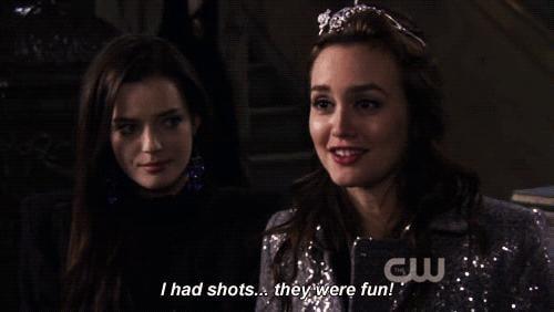 Blair Waldorf + shots = amazing.
