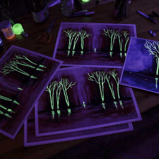 Glow-in-the-Dark Paintings