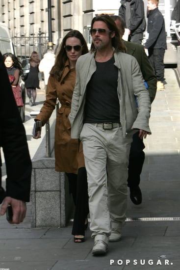 Brad Pitt and Angelina Jolie went to the National Portrait Gallery in London.